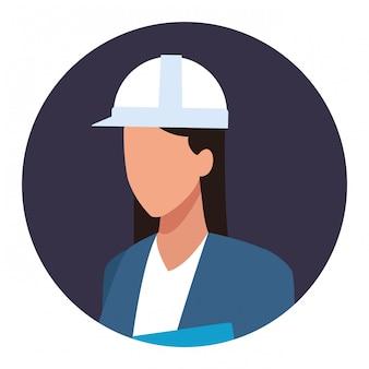 Строительная женщина рабочий рабочий аватар