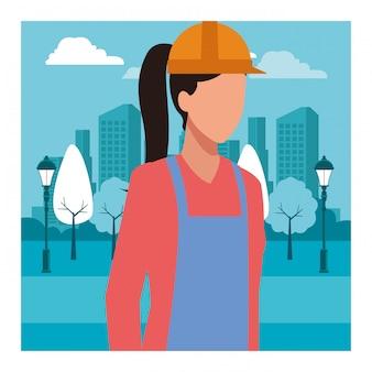 建設女性労働者労働者アバター