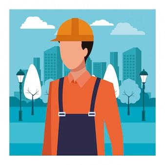 建設労働者の労働者のアバター
