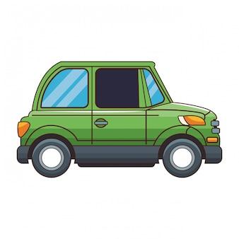 Купе припаркованный автомобиль вид справа
