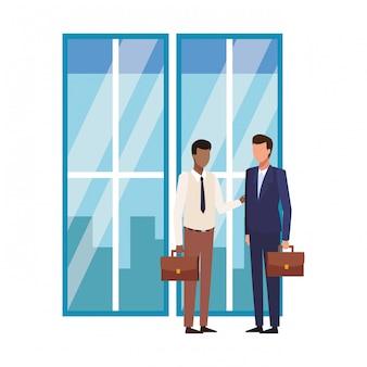 ビジネスマンとオフィス