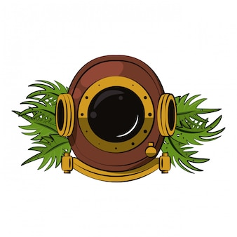 Античный водолазный шлем