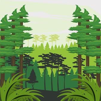 ジャングルの風景漫画