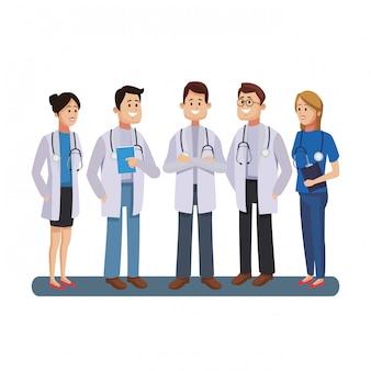 医師の医療チームワーク