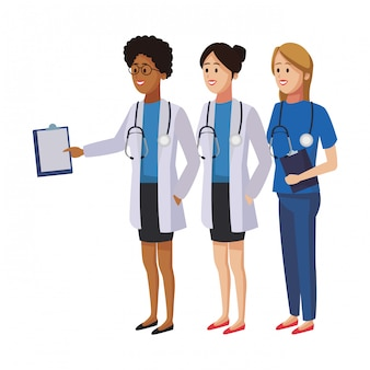 Работа в команде врачей