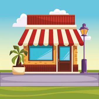 レストラン通りの風景