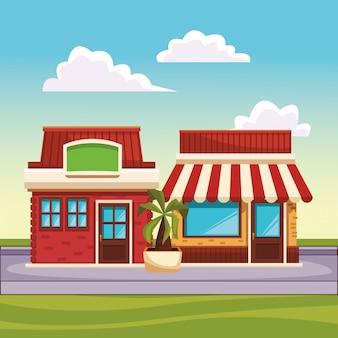 Ресторан уличный пейзаж