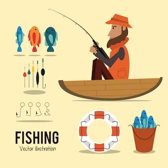 釣りのグラフィック