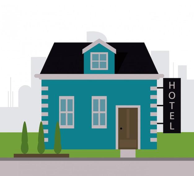 ホテル。サービスアイコン。