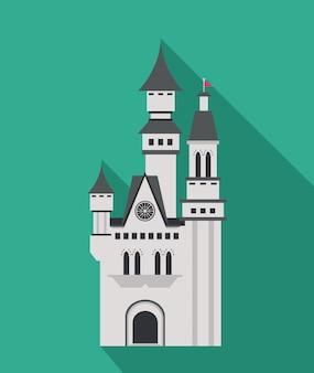 城のアイコン。宮殿。