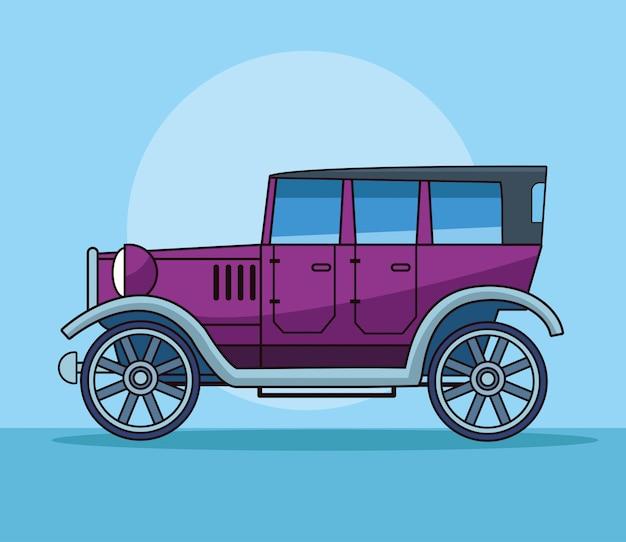 Античный классический автомобиль, вид сбоку