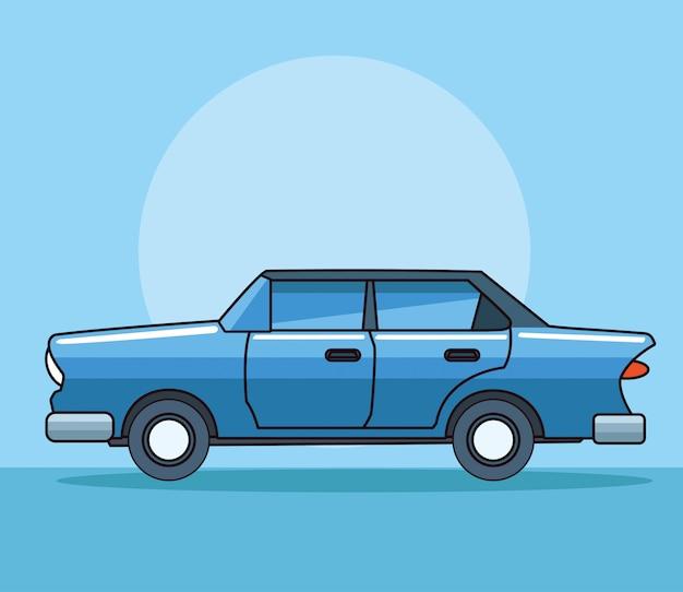 Урожай классический автомобиль автомобиль вид сбоку