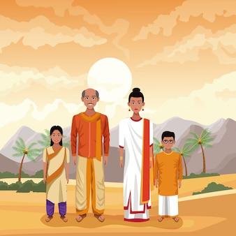 Индийская семья индия мультфильм