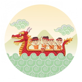 Парад лодок-драконов