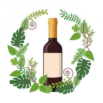 Бутылка вина на венке