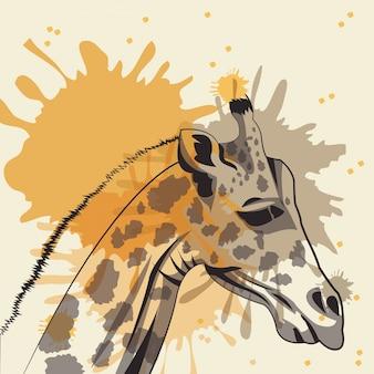 Жираф значок. животное и искусство