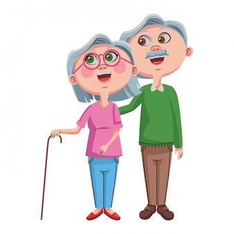 かわいい祖父母のカップル