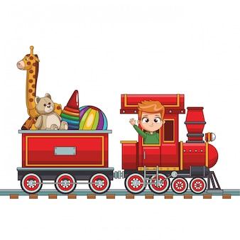 子供乗馬鉄道漫画