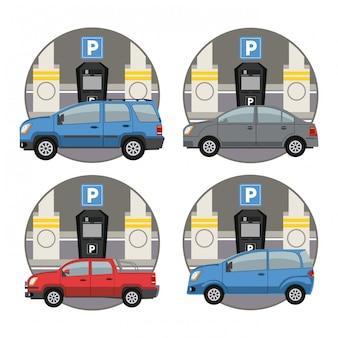 エンブレムの駐車場ゾーンセット