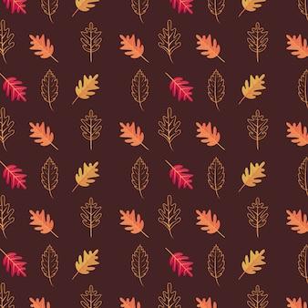 紅葉シーズンのシームレスパターン
