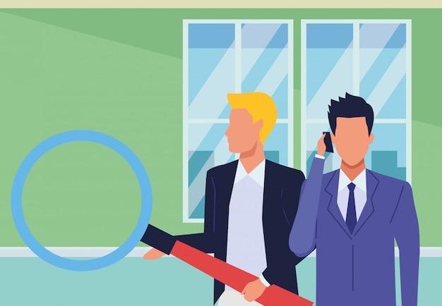 エグゼクティブビジネス起業家カップル