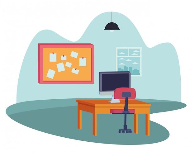 オフィスと職場の要素の漫画