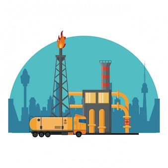 石油精製機械