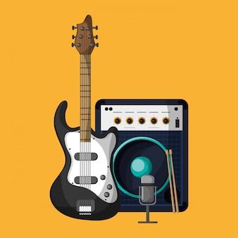 Красочная музыка значок иллюстрации