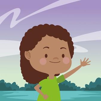 楽しい幸せな子供漫画