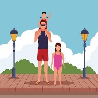 Мультфильм люди на летних каникулах