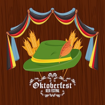 オクトーバーフェストのお祝い、ビール祭りのデザイン