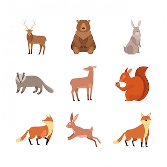 Набор диких животных