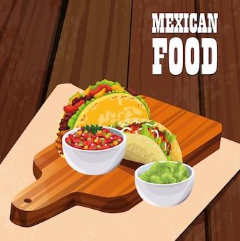 タコスとメキシコ料理のポスター
