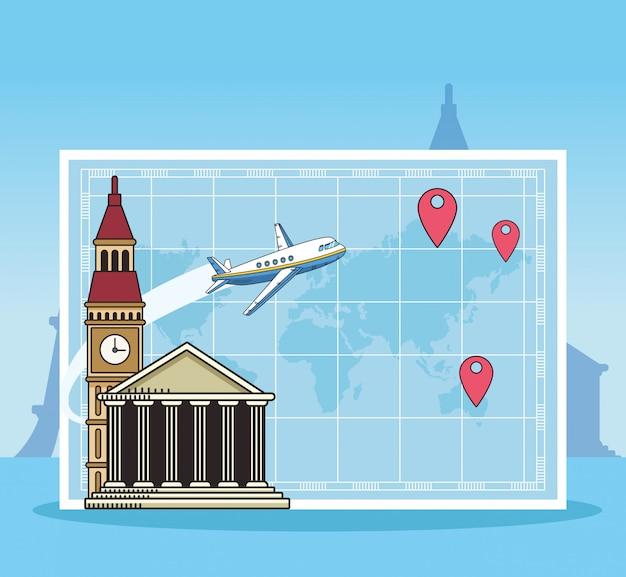 Полет на самолете и дизайн кругосветного путешествия
