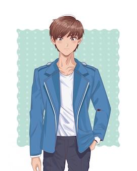 若い男の子の変態スタイルのキャラクター