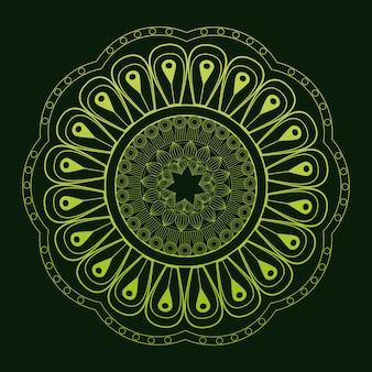 マンダラの古典的な神秘的な飾り緑の背景