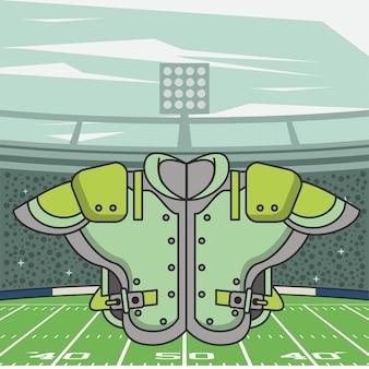 アメリカンフットボールスポーツシャツフロントアイコン