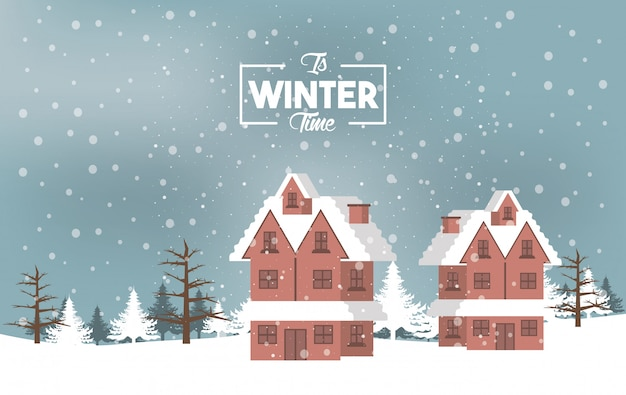 雪と森のシーンと冬