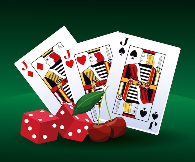 Покер, игральные карты и игра на вишневую ставку