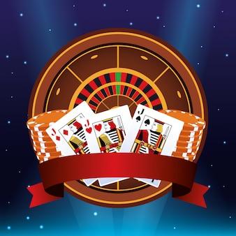 ルーレットポーカーカードチップバナー賭博ゲームギャンブルカジノ