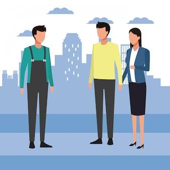 Аватар мужчина и пара стоя
