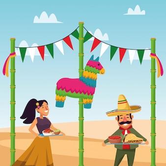 Мексиканский мужчина и женщина