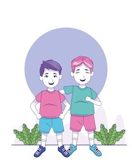 Мультфильм маленькие мальчики стоя