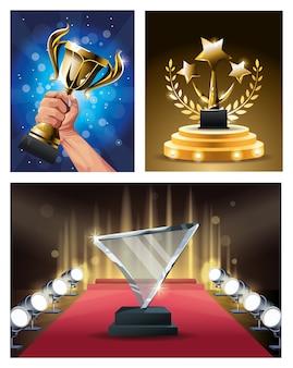 Награды за фильмы поставлены трофеи