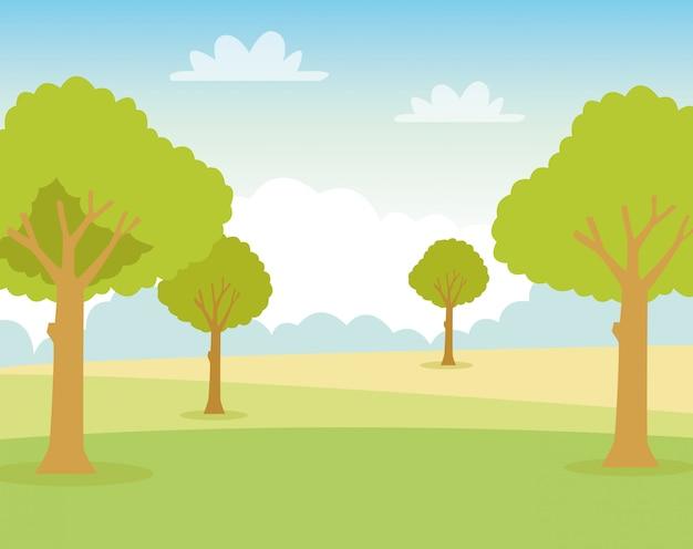 Экология пейзаж природа сцена значок