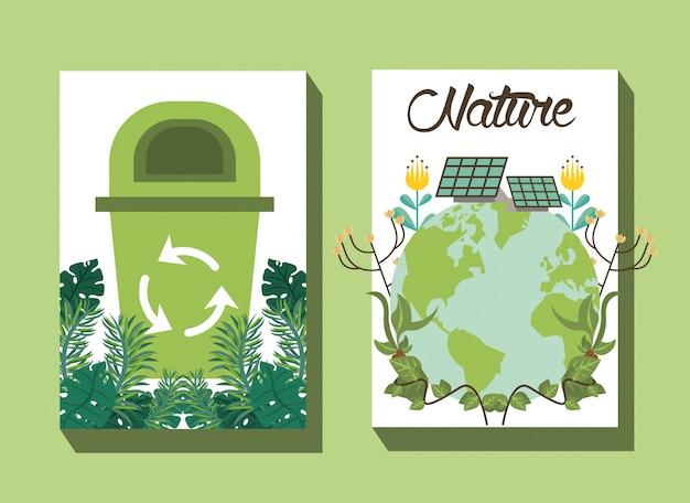 リサイクル矢印ベクトルイラストデザインのゴミ箱