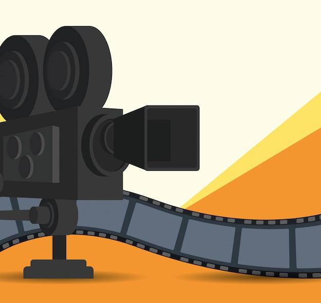 フィルムカメラとリールテープ
