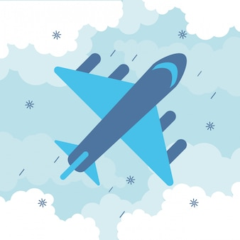 Самолет пролетел путешествия изолированных значок