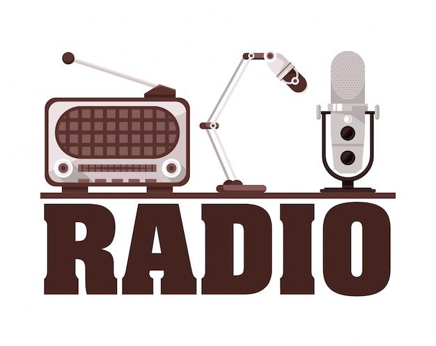 ラジオとマイクの古いデバイス