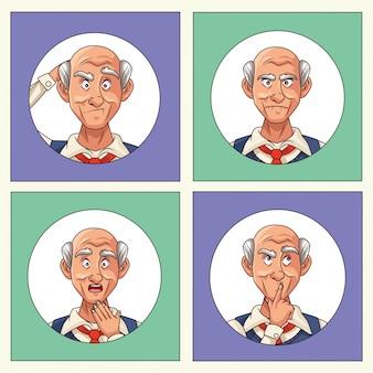 Старики, пациенты с признаками болезни альцгеймера